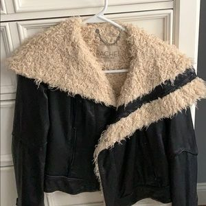 Leather jacket with Sherpa inside